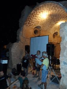 Un moment de l'actuació de la Banda de Xeremiers 'Ciutat de Mallorca'.