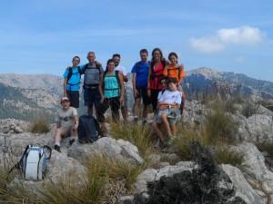 Els fiters incondicionals en el cim de na Fàtima (650m).