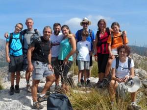 Una foto més de grup des del cim de na Fàtima.