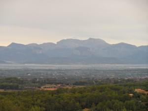La Serra de Tramuntana des de la Serra de Galdent.