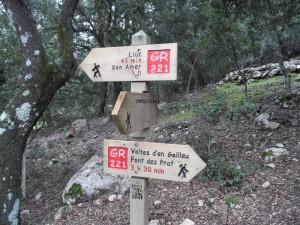 La ruta d'avui discorria per un tram del GR-221 (Ruta de Pedra en Sec).