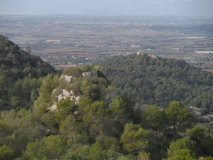 Es Castellet des del puig de Sa Cabana.