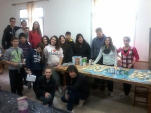 Els alumnes d'ESO del Col·legi Fra Joan Ballaester de Campos, una vegada acabat el taller.