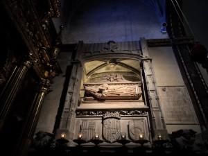 Sepulcre de Ramon Llull (1232-1316) a l'església de Sant Francesc (Francesc Sagrera, 1487).