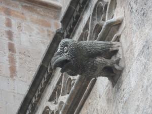 Gàrgola de la façana nord de la Seu, portal de l'Almoina.
