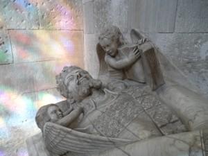 Tomba del rei Jaume II a la Capella de la Trinitat de la Seu.