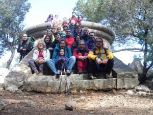 Amb els participants de l'activitat al mirador dels Tudons.