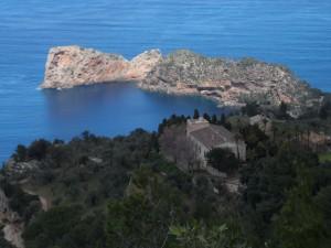 Les cases de Miramar i sa Foradada des del mirador dels Tudons.