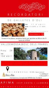 Cartell anunciador de l'activitat amb l'Apima Costa i Llobera.