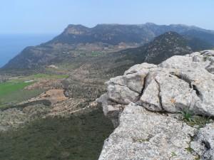Vista de la plana de Valldemossa des de la Mola de Son Ferrandell.