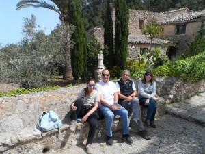 Amb na Margalida Gelabert, Antonio García i Antònia Servera, professors d'ESO del Col·legi Pedro  Poveda de Palma.