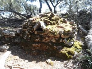 Dalt de la muntanya, a Ses Mossetes, hem vist un vell forn on hi cuinaven els carboners i tots els homes que feien feina per la muntanya de la Comuna de Valldemossa.