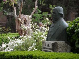 Bust de l'Arxiduc als Jardins de Cartoixa a Valldemossa.