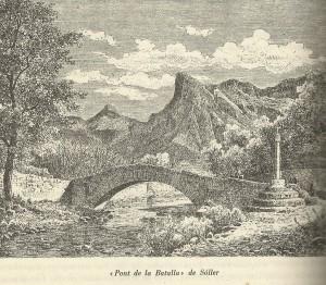 El pont de la Mar o de la Invasió, també dit d'en Barona, en un gravat del Die Balearen de l'Arxiduc Lluís Salvador.