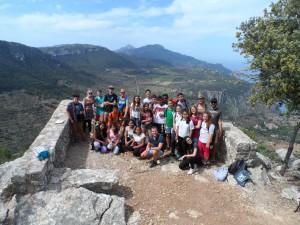 Amb els alumnes de 2n d'ESO de l'IES Ses Estacions de Palma en el mirador de na Torta (Son Moragues, Valldemossa).