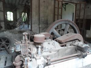 Interior d'una fàbrica tèxtil de Sóller.