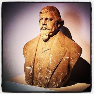 Bust de l'Arxiduc que presideix l'entrada de l'exposició en el Casal Solleric de Palma.