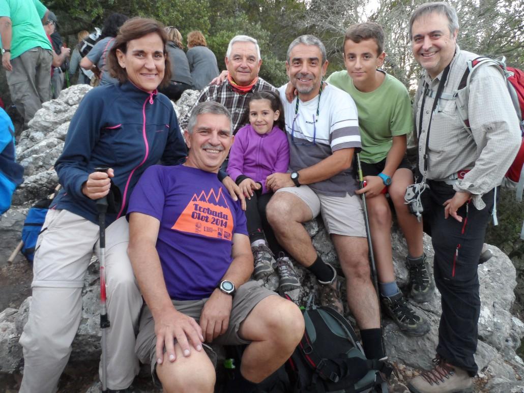 Catalina Tomàs Galmés, Carles Kellner, Manel Osuna i la seva neta Xisca, Joan Carles Palos i el seu fill Joan.