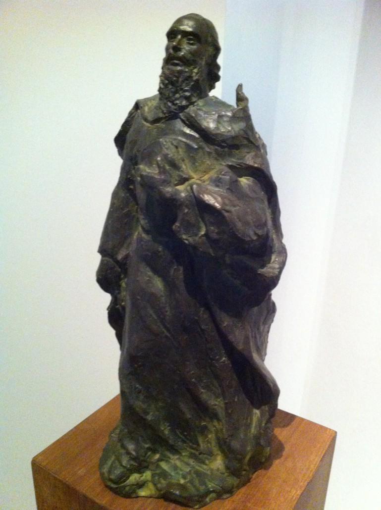 Figura de RAMON LLULL (1232-1316), de l'escultora Remigia Caubet. Una imatge i un concepte imprescindible per entendre l'atracció de l'Arxiduc cap a Miramar.